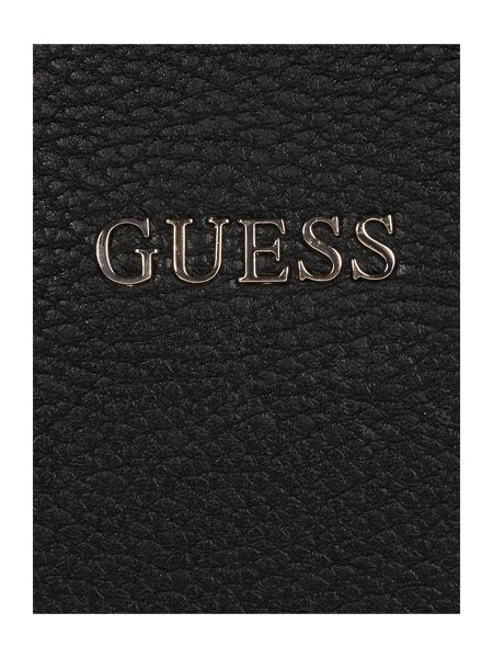 Guess Nikki black chain tote bag
