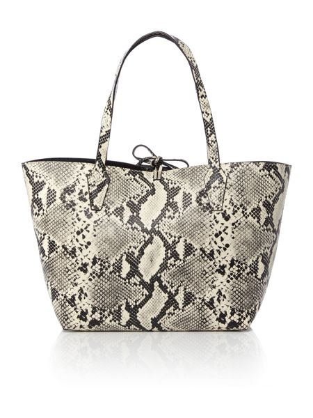 Guess Bobbi snake/black reversible tote bag