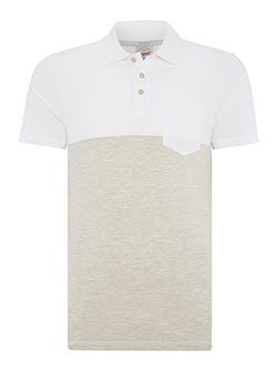 Contrast Panel Short Sleeve Polo
