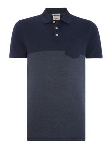 Jack & Jones Contrast Panel Short Sleeve Polo