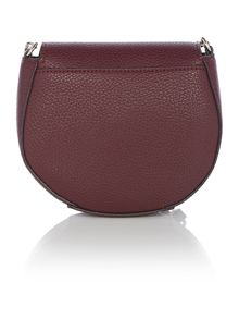Guess Cate burgundy mini flapover crossbody bag