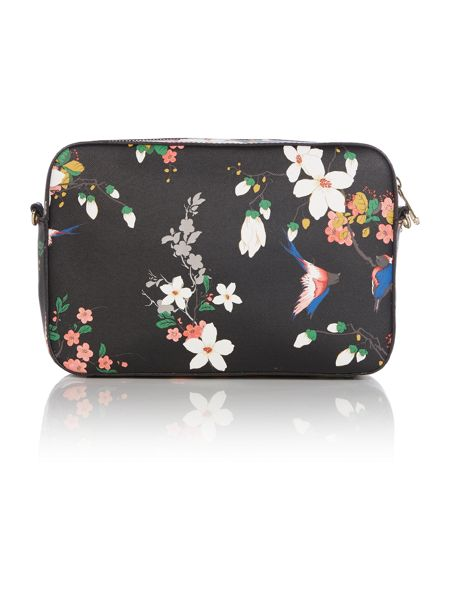 Guess Isabeau black floral large crossbody bag