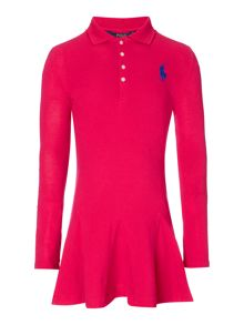 Polo Ralph Lauren Girls Tipped Polo Shirt Dress