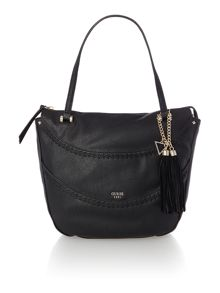 Guess Solene black large satchel bag