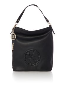 Guess Korry black hobo bag