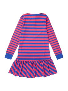 Polo Ralph Lauren Girls Contrast Collar Stripe Dress