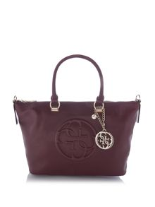Guess Korry red crossbody tote bag