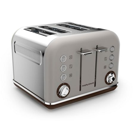 Morphy Richards Accents Special Edition 4 Slot Toaster, Pebble