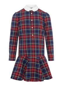 Polo Ralph Lauren Girls Plaid Shirt Dress
