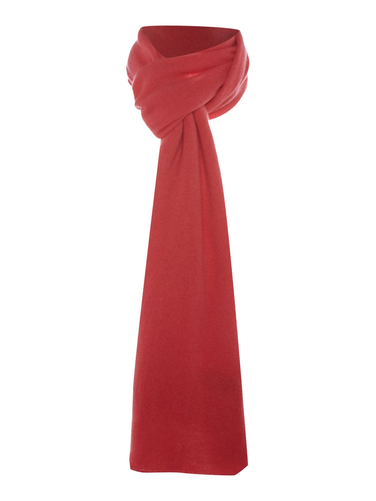 Royal Speyside Royal Speyside Cashmere knitted scarf, Coral