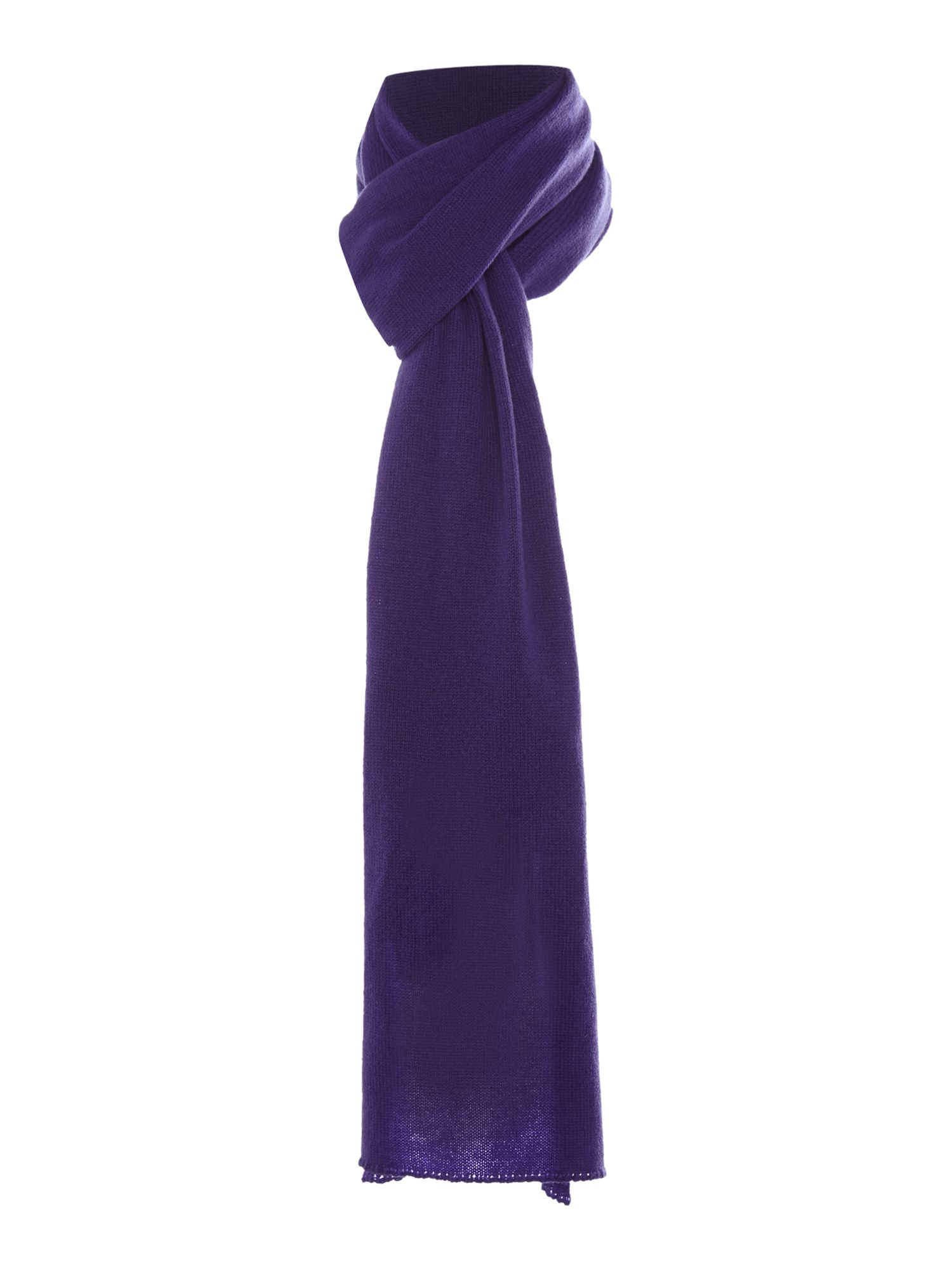 Royal Speyside Royal Speyside Cashmere knitted scarf, Purple