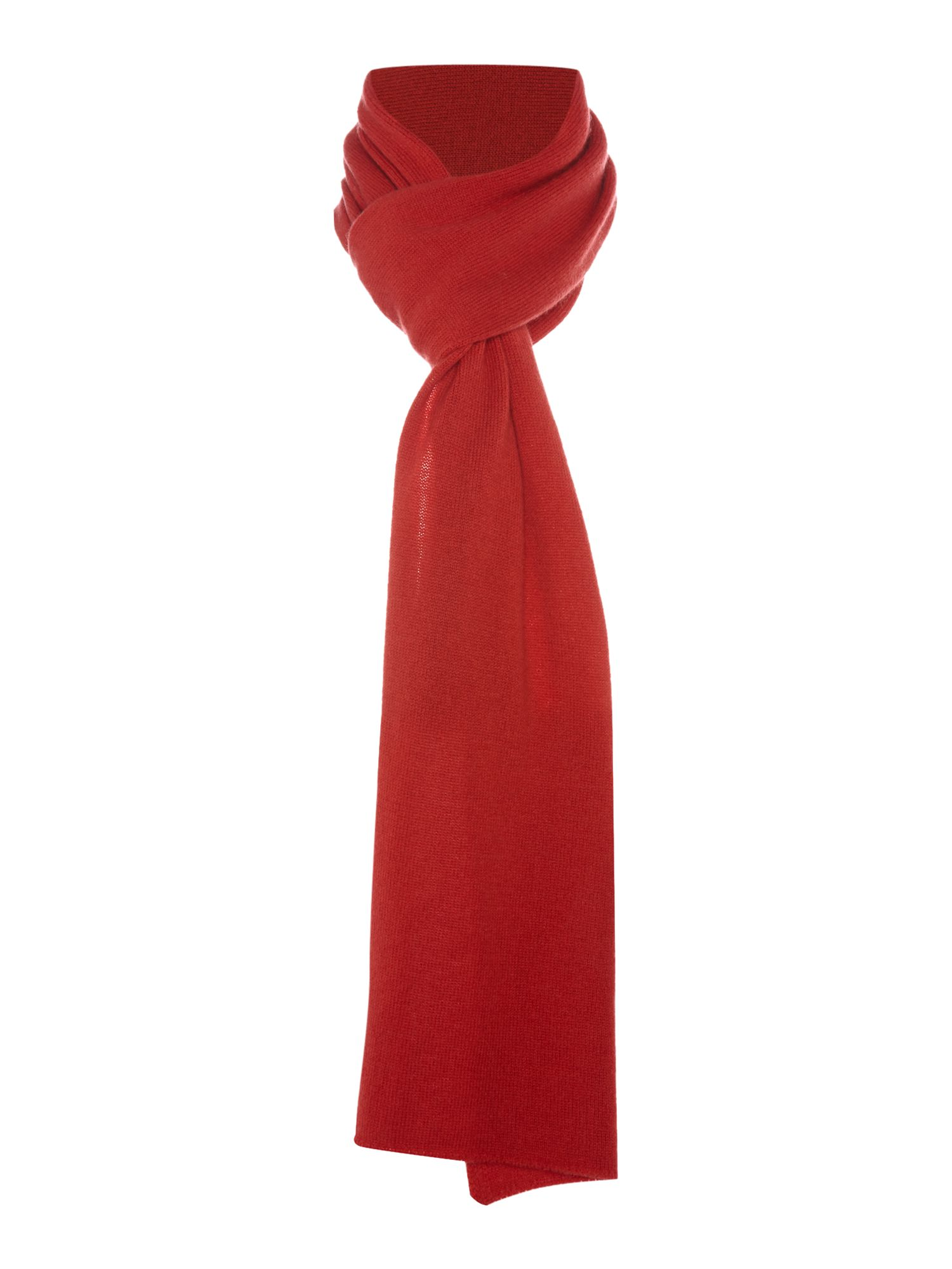 Royal Speyside Royal Speyside Cashmere knitted scarf, Red