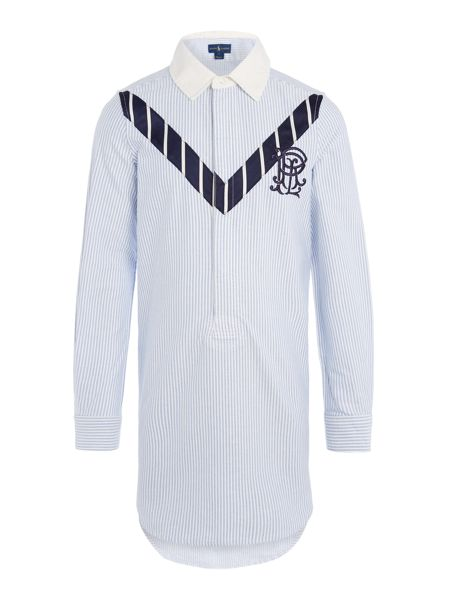 Polo Ralph Lauren Girls Pinstripe Shirt Dress