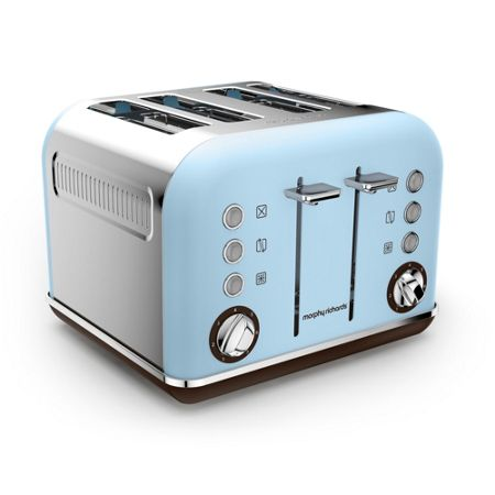 Morphy Richards Accents Special Edition 4 Slot Toaster Azure