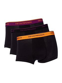 Exclusive 3 Pack of Contrast Waistband Trunks