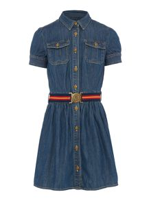 Polo Ralph Lauren Girls Denim Shirt Dress with Belt