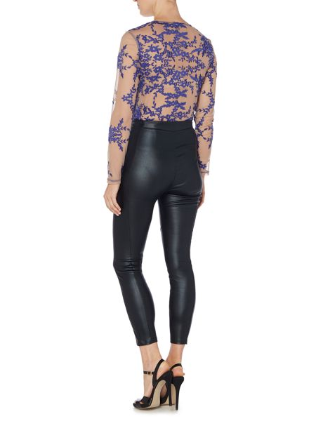 Bardot Long Sleeved Printed Body Top