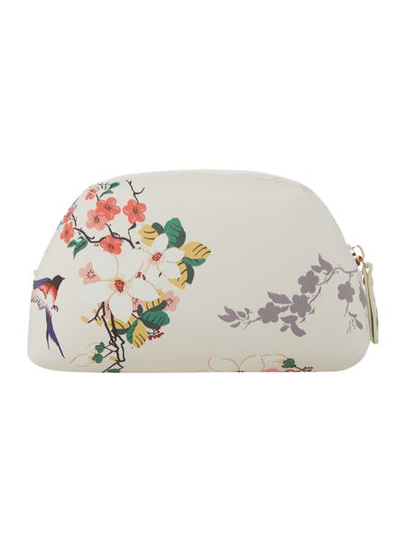 Guess Isabeau white floral cosmetic case