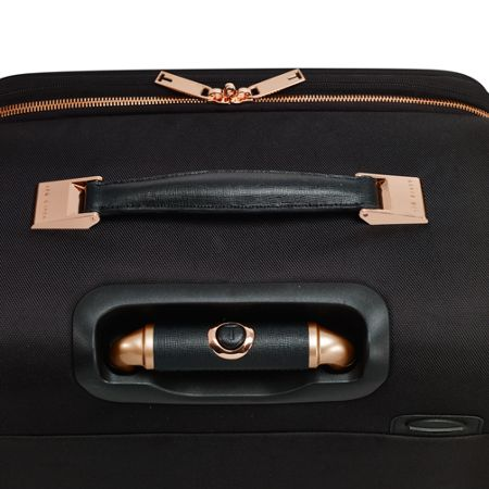 Ted Baker Ladies albany black 4 wheel soft medium suitcase
