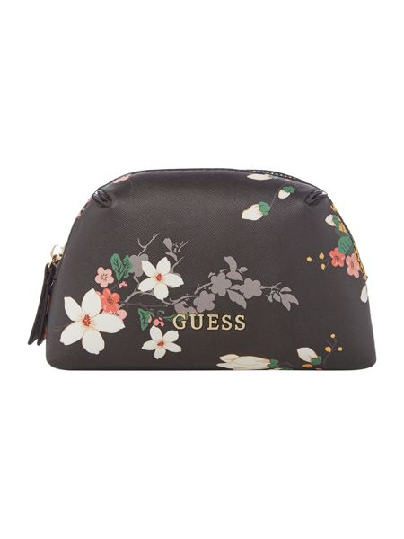 Guess Isabeau black floral cosmetic case