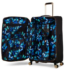 Ted Baker Ladies albany black 4 wheel soft large suitcase
