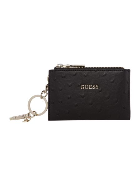 Guess Pouch keychain black small coin purse