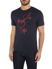 Vivienne Westwood Peace and war crew neck t shirt