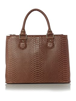 Joanna tan snake tote bag
