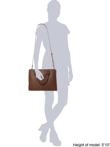 Lamb 1887 Joanna tan snake tote bag