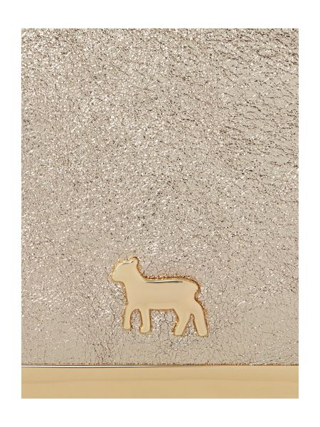 Lamb 1887 Clarence gold/grey envelope clutch bag