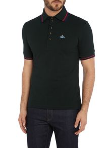 Vivienne Westwood Contrast collar short sleeve polo shirt