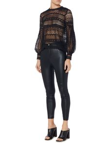 Bardot Long Sleeved Lace Top