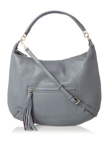 Coccinelle Leonie Grey Tassle Hobo Bag