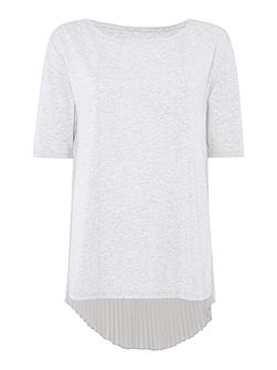 Daphne pleat back short sleeve top