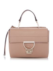 Coccinelle Arlettis pink small flapover crossbody bag