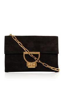 Coccinelle Artlettis Suede Black Small Chain Clutch