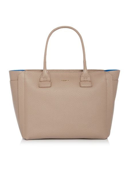 Furla Carpriccio taupe medium tote bag