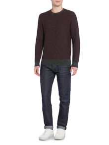 Criminal Brett Textured Crew Jumper