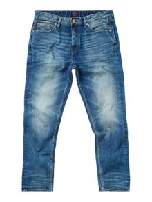 Criminal Slater Slim Fit Mid Blue Jeans