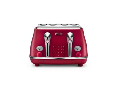 Delonghi Elements Flame Red 4 Slot Toaster
