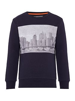 Boys Basic Crew Neck Sweatshirt