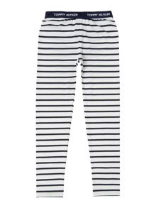 Tommy Hilfiger Girls Striped Mini Leggings