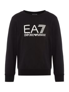 EA7 Junior Boys EA7 Logo Crew Neck Sweater