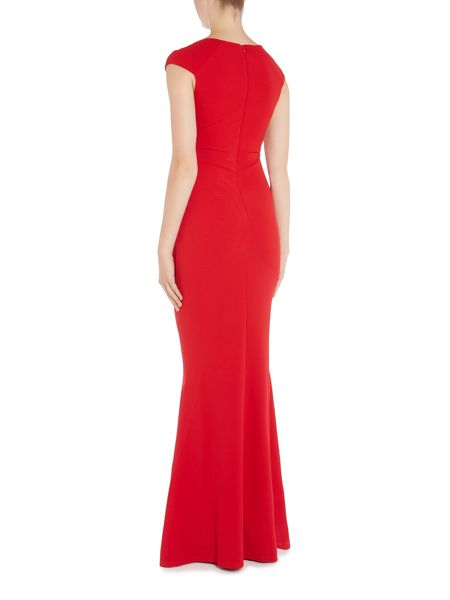 Jessica Wright Sleeveless V Neck Maxi Dress