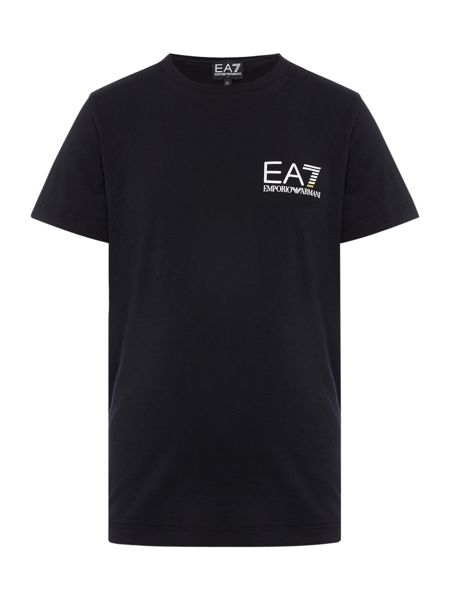 EA7 Junior Boys EA7 Logo Crew Neck T-shirt