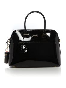 Paul's Boutique Patent Black Dome Bag