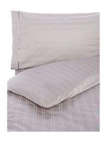 Luxury Hotel Collection Dobby stripe duvet cover set