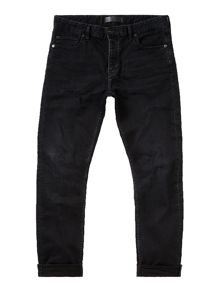 Label Lab Dart Taper Leg Washed Black Jean