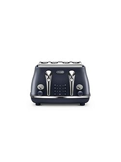 Elements Ocean Blue 4 Slot Toaster