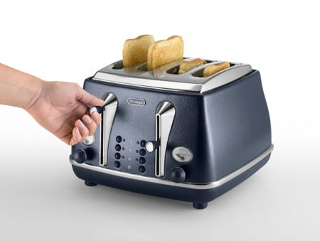 Delonghi Elements Ocean Blue 4 Slot Toaster